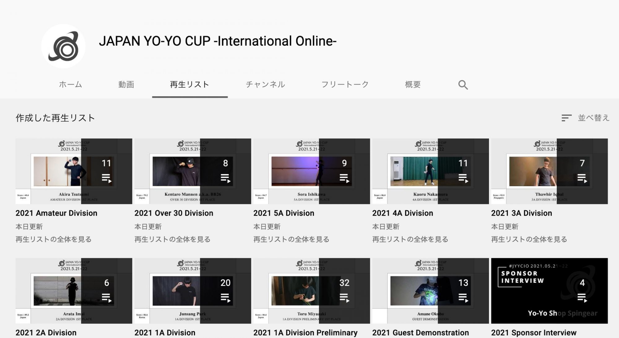 #JYYCIO 2021 カップ全部門映像公開! / All Divisions Players Uproaded!